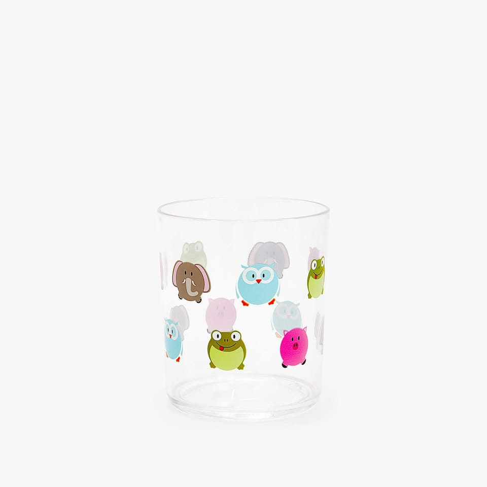 Multicoloured animals tumbler