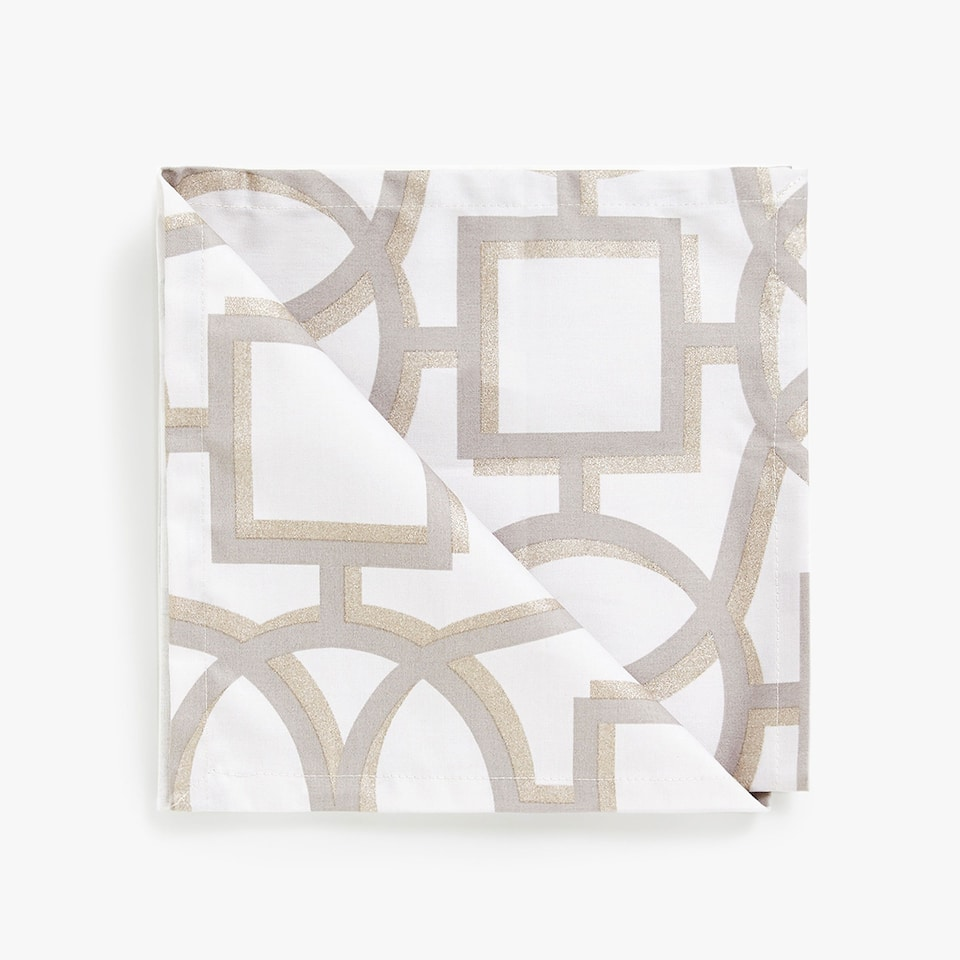 LAMINATED COTTON NAPKINS (SET OF 4)