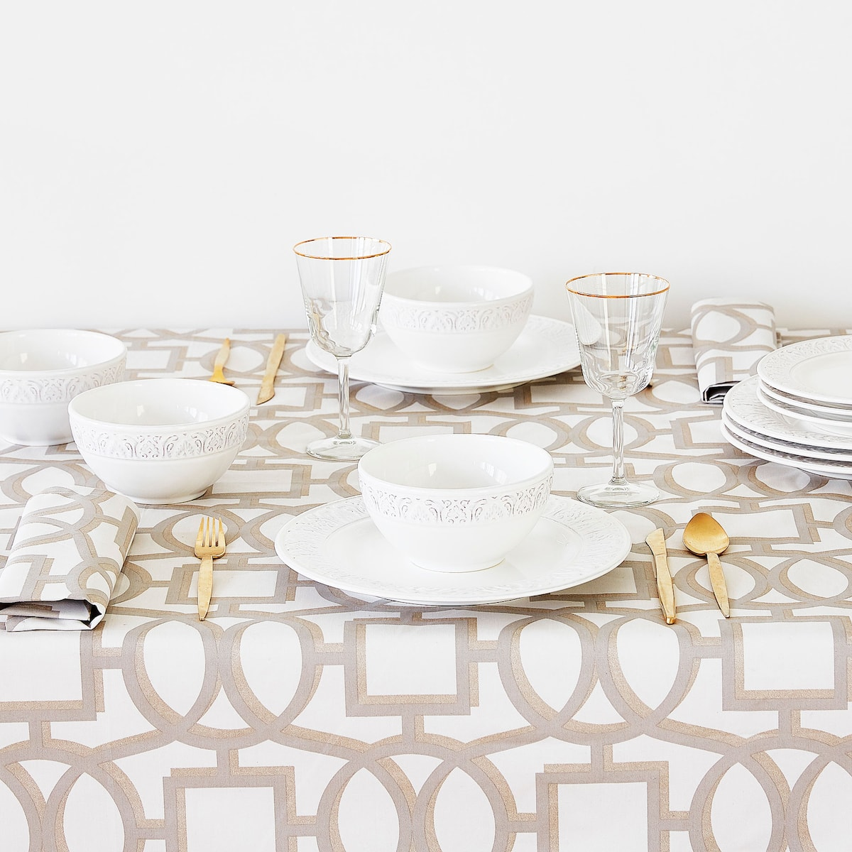 + Image ...  sc 1 st  Zara Home & LAMINATED COTTON NAPKINS (SET OF 4) - NAPKINS - TABLEWARE - AW18 ...