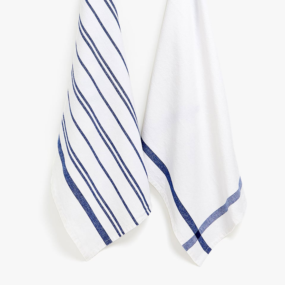 STRIPED COTTON TEA TOWEL (SET OF 2)