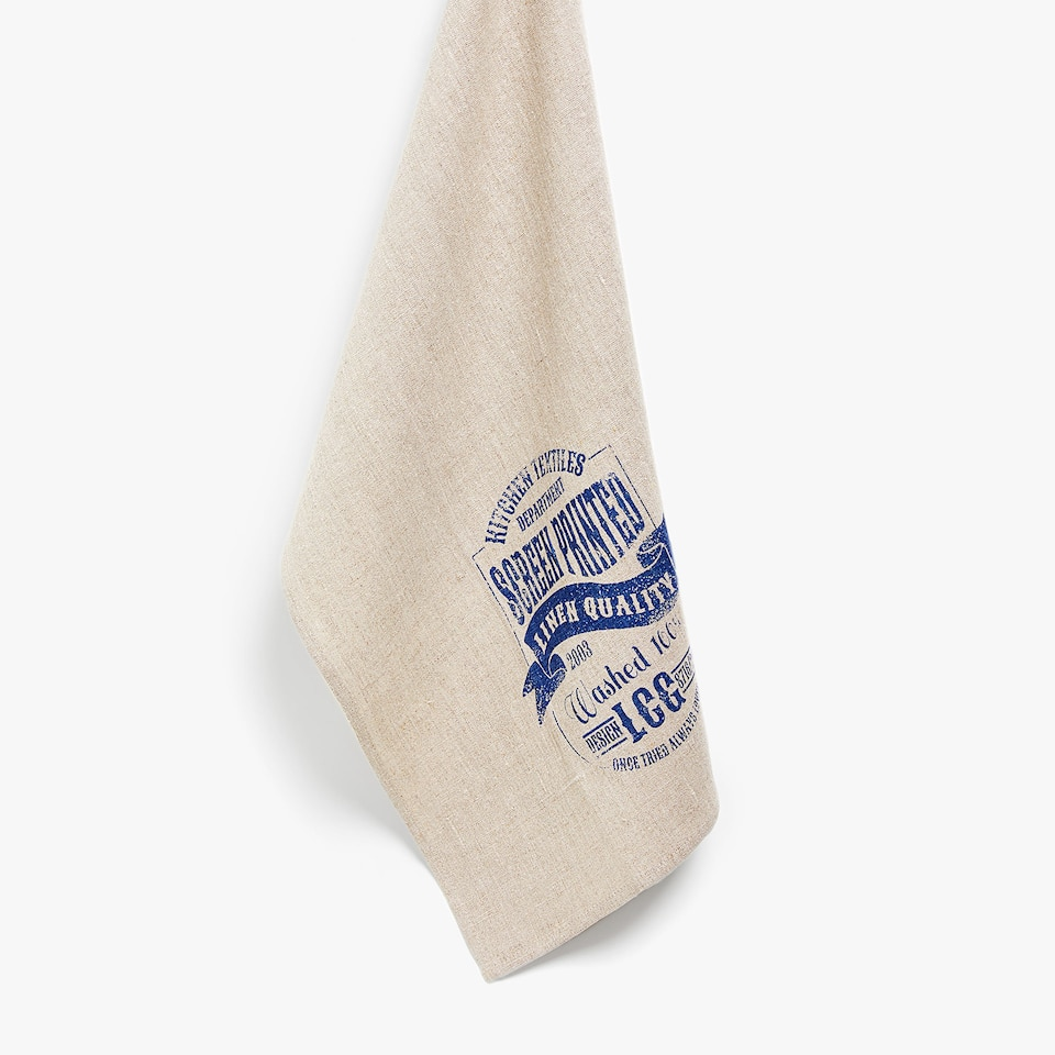 FADED LINEN TEA TOWEL