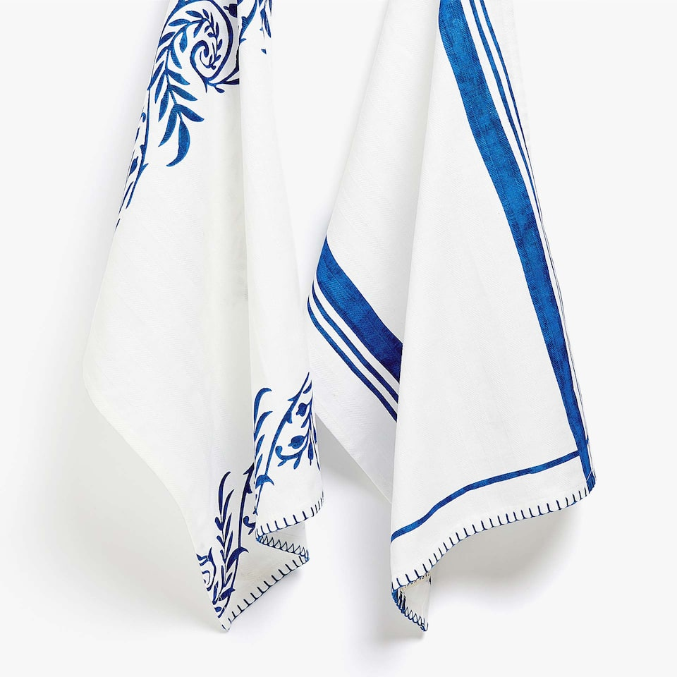 EMBROIDERED TEA TOWEL (SET OF 2)