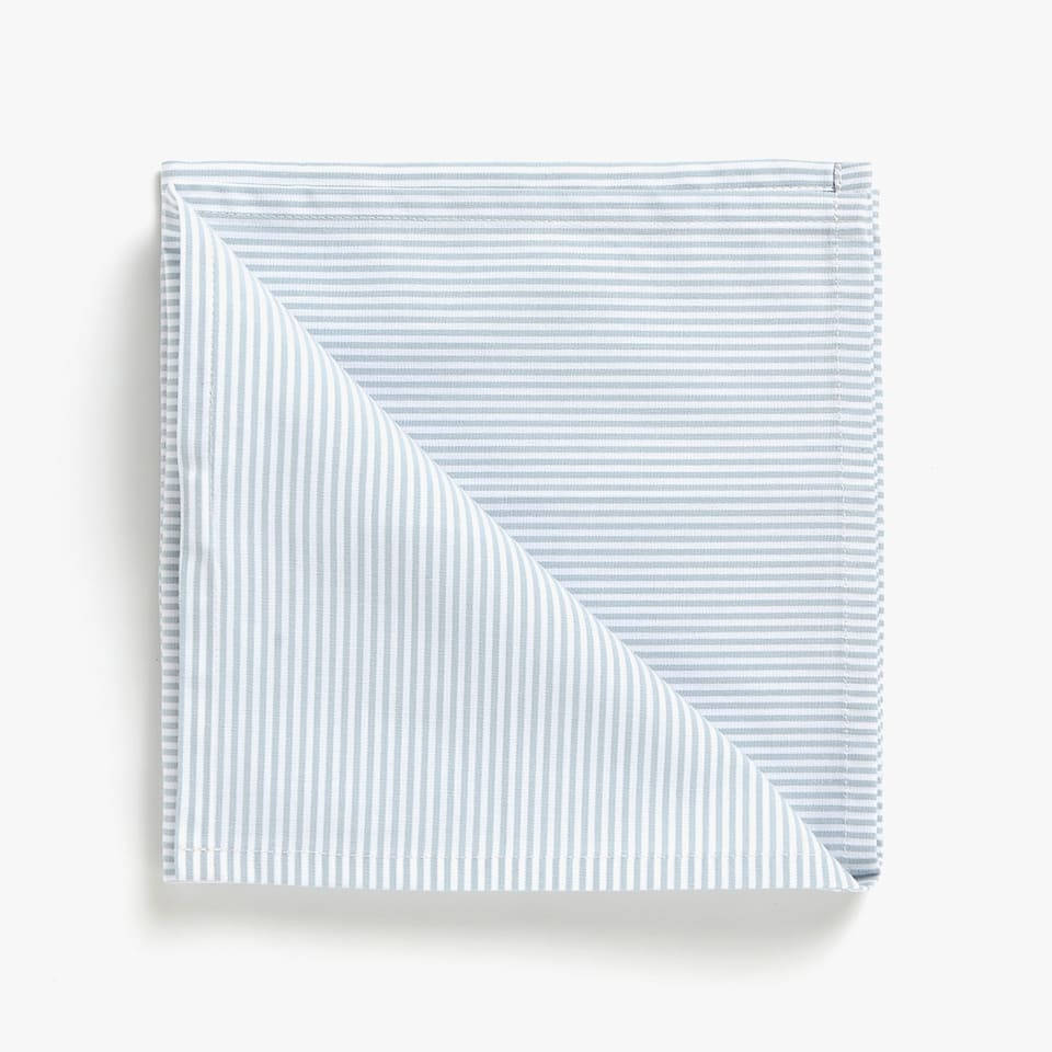 SERVIETTES DE TABLE COTON RAYURES (LOT DE 2)