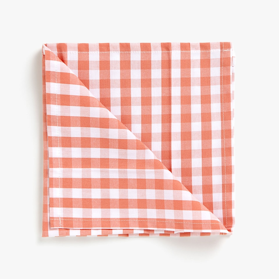 SERVIETTES DE TABLE COTON CARREAUX VICHY (LOT DE 2)