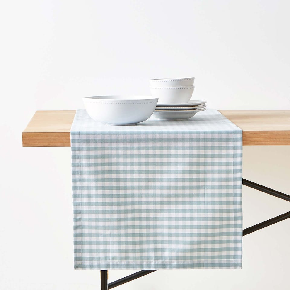 CHEMIN DE TABLE COTON CARREAUX VICHY