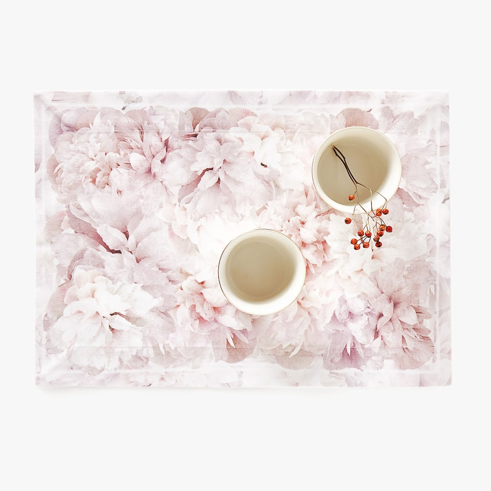 Set de table imprimé floral (lot de 2)
