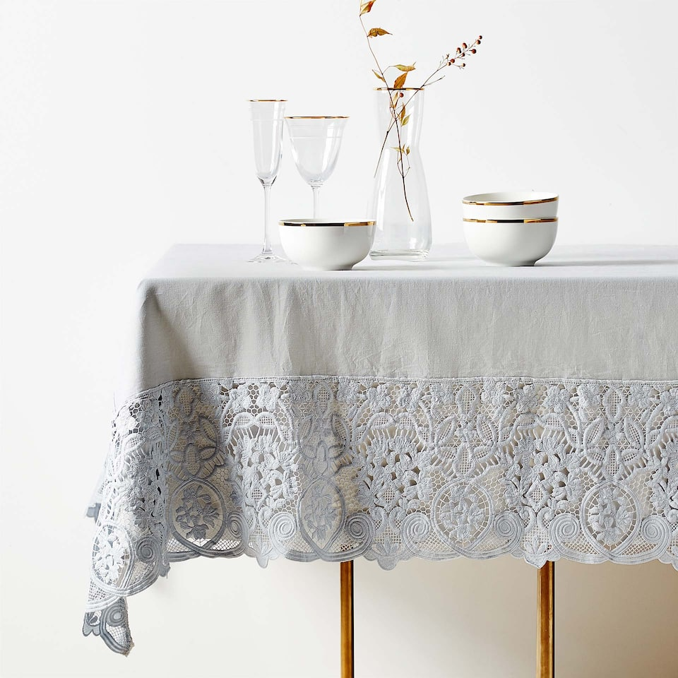 Guipure lace tablecloth