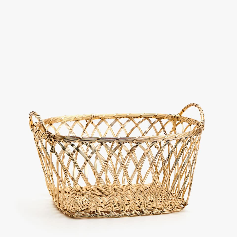Gold oval basket