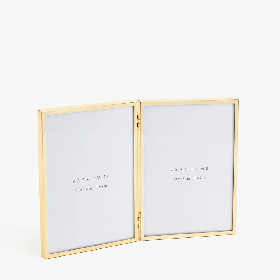 DOUBLE FRAME WITH THIN GOLD EDGES