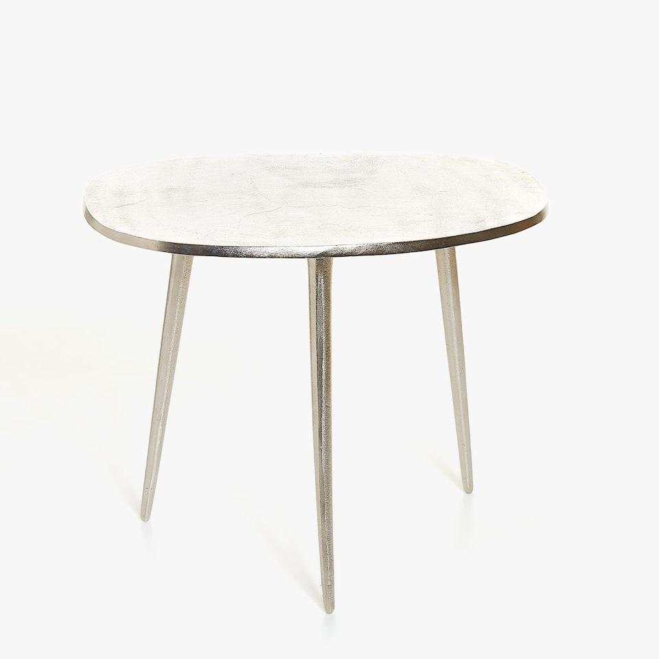 TABLE D'APPOINT BASSE ALUMINIUM RECYCLÉ