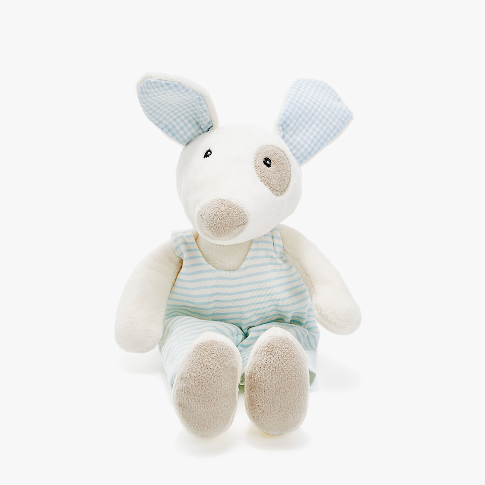DRESSED MALE PUPPY SOFT TOY