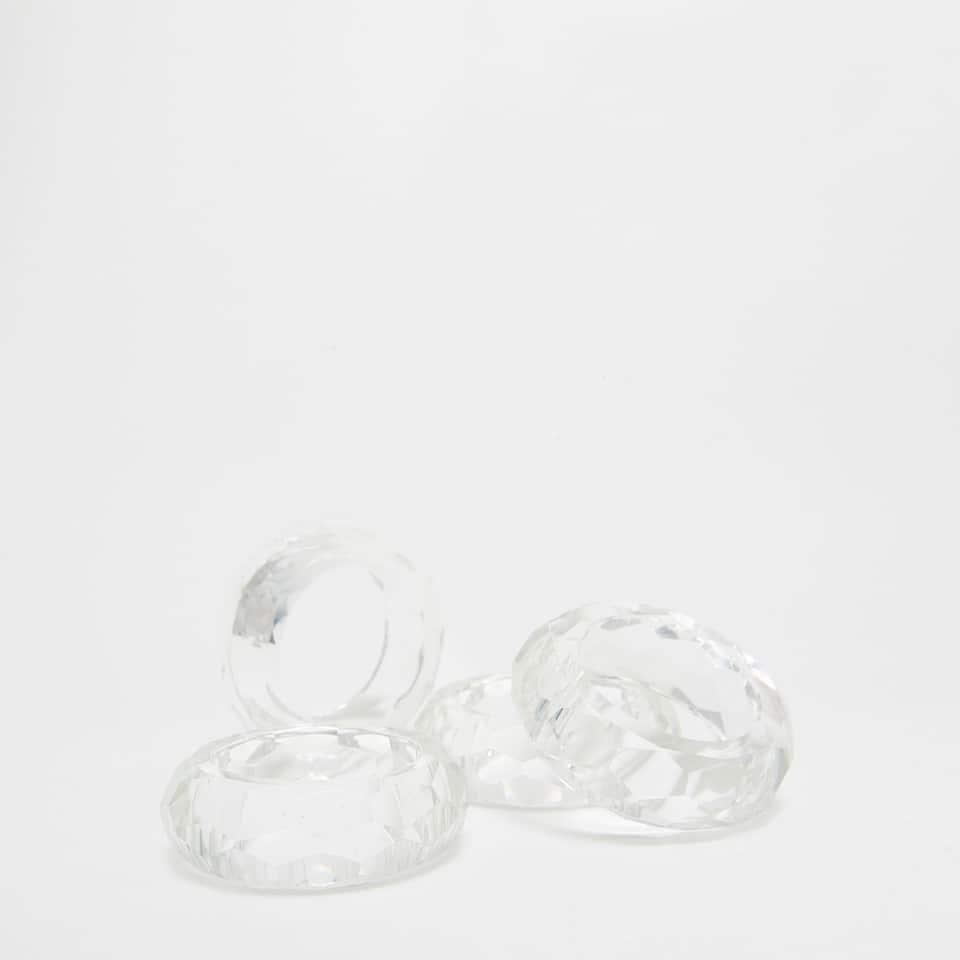 GLASS NAPKIN RING (SET OF 4 )