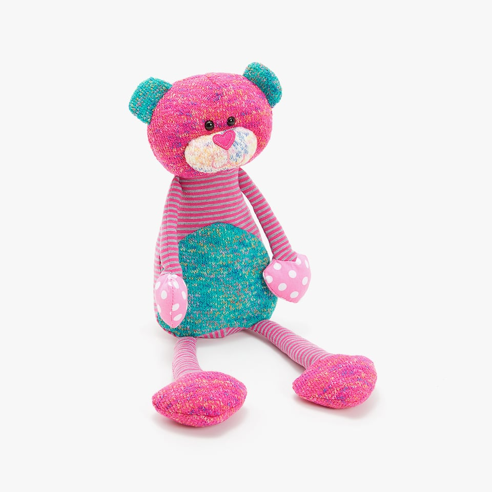 MULTI-COLOUR BEAR SOFT TOY