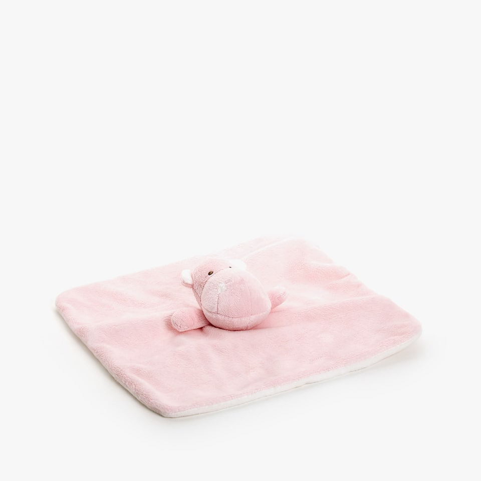 PINK HIPPOPOTAMUS SECURITY BLANKET