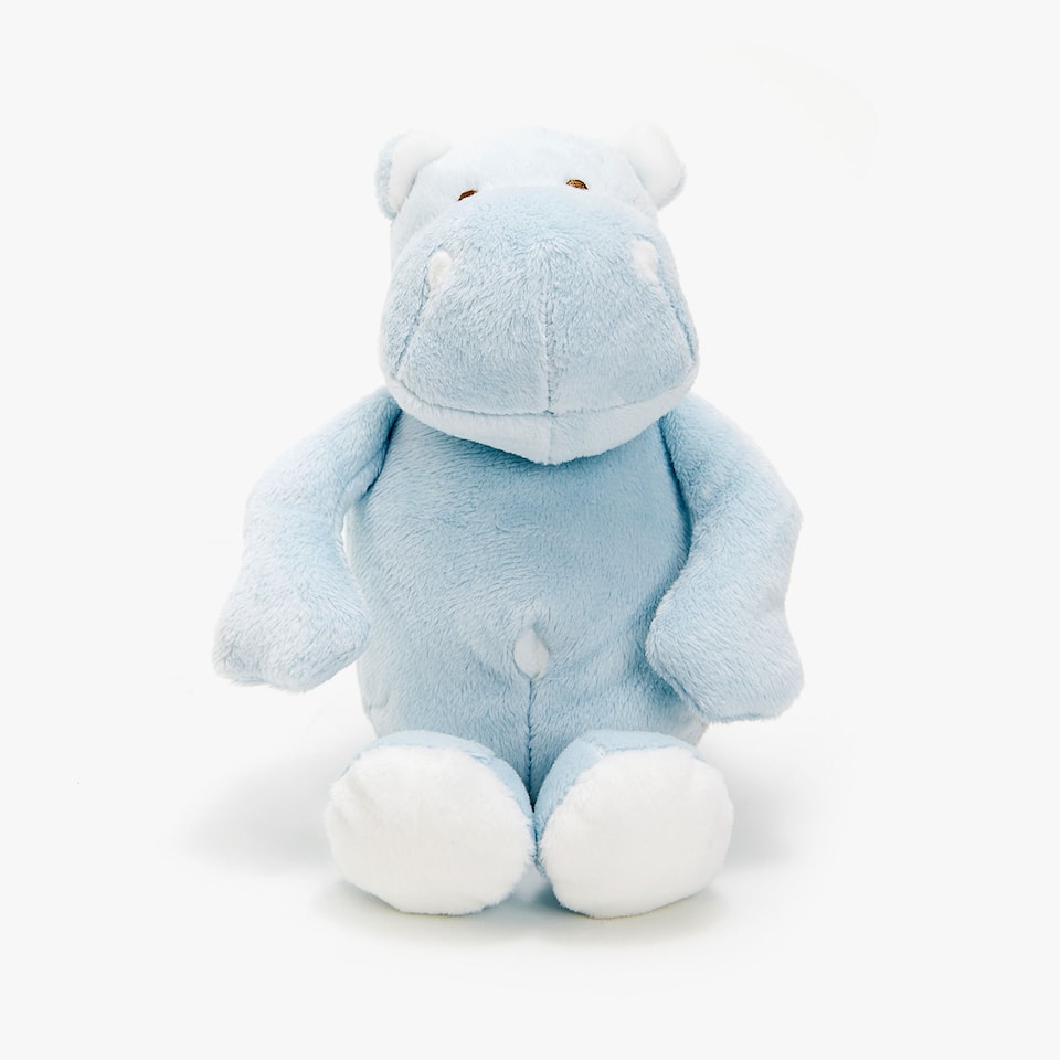 BLUE HIPPO SOFT TOY