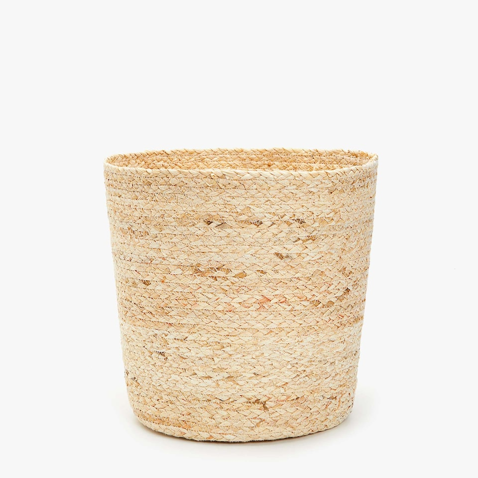 BRAIDED WASTEPAPER BASKET