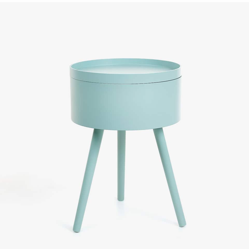 HIGH ROUND TRAY SIDE TABLE