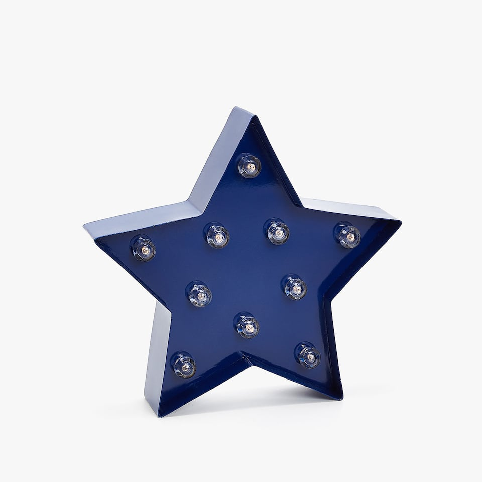BLUE STAR SHAPED LAMP