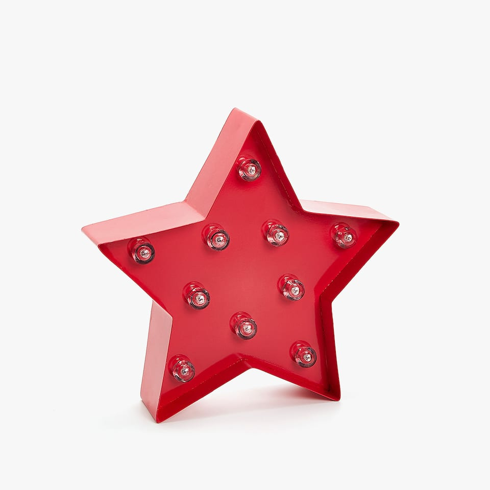 RED STAR SHAPED LAMP