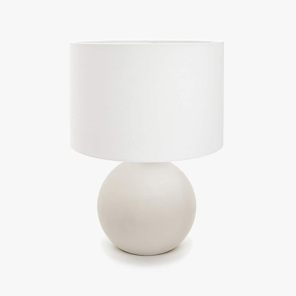LAMP WITH ROUND CEMENT BASE