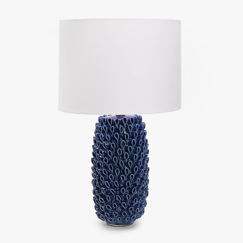 BLUE CORAL SHAPED CERAMIC LAMP