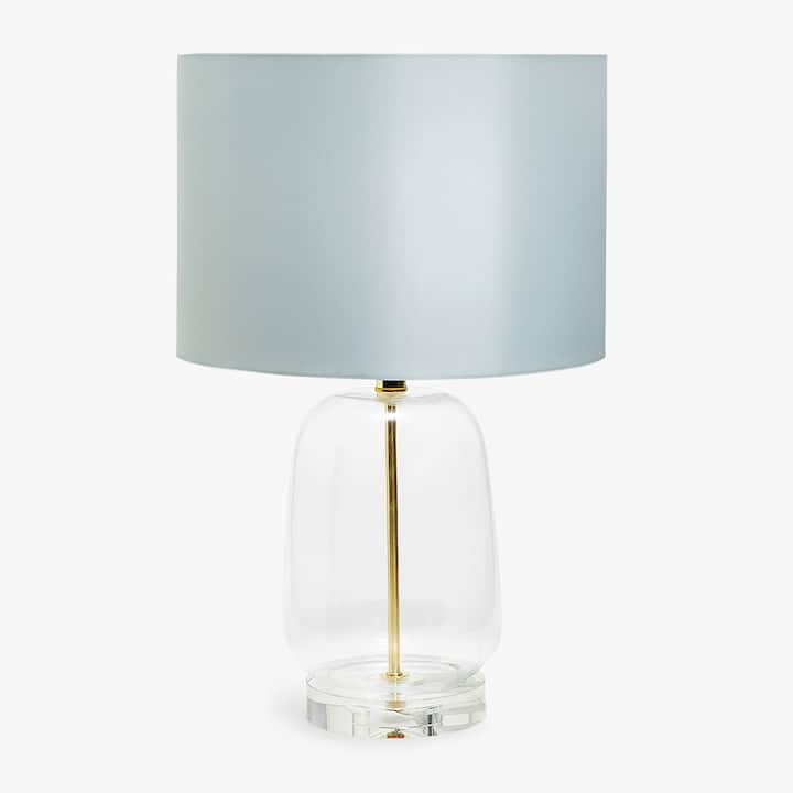Table lamps zara home new collection image of the product glass lamp with blue shade aloadofball Choice Image