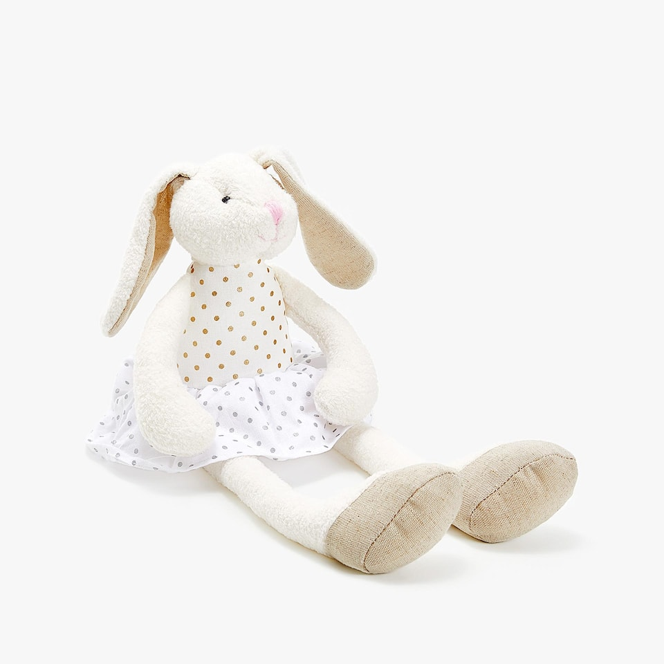 SOFT TOY BUNNY WITH LONG LEGS