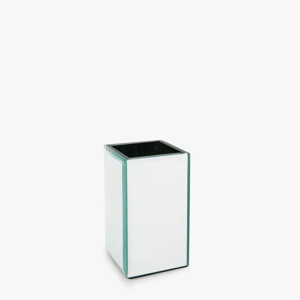 RECTANGULAR MIRRORED TUMBLER