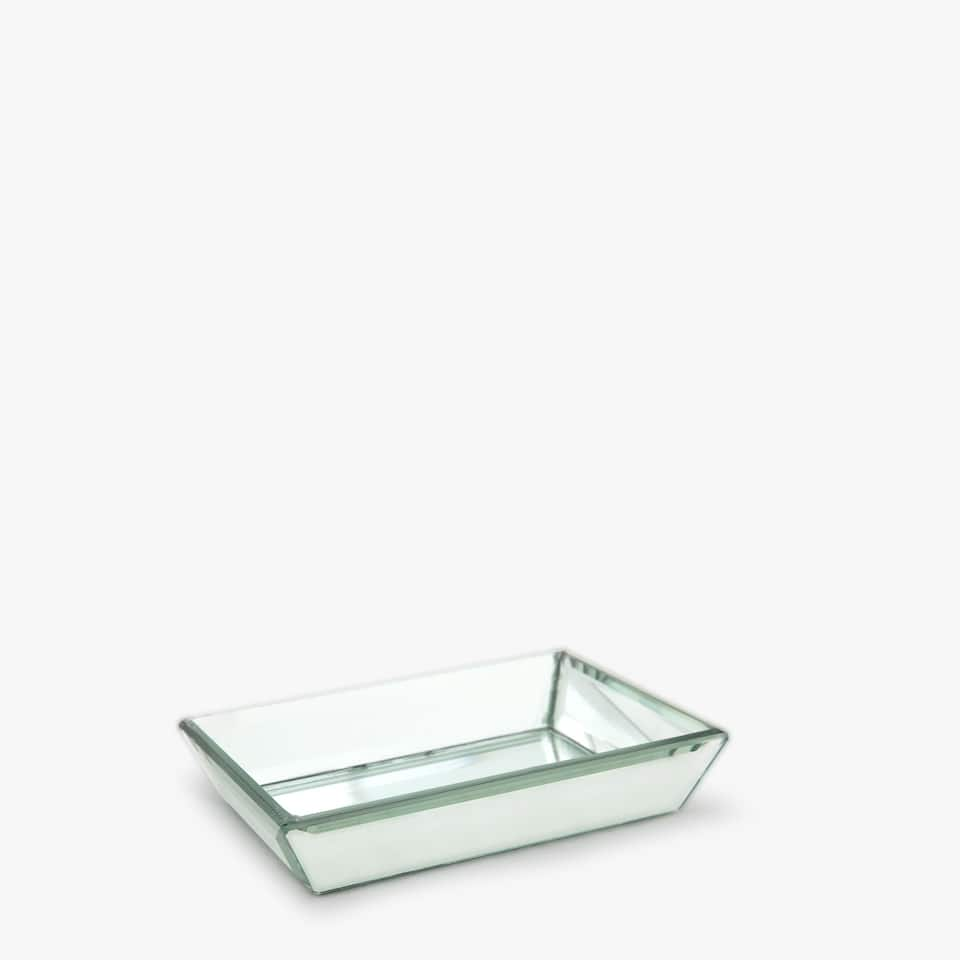 RECTANGULAR MIRRORED SOAP DISH