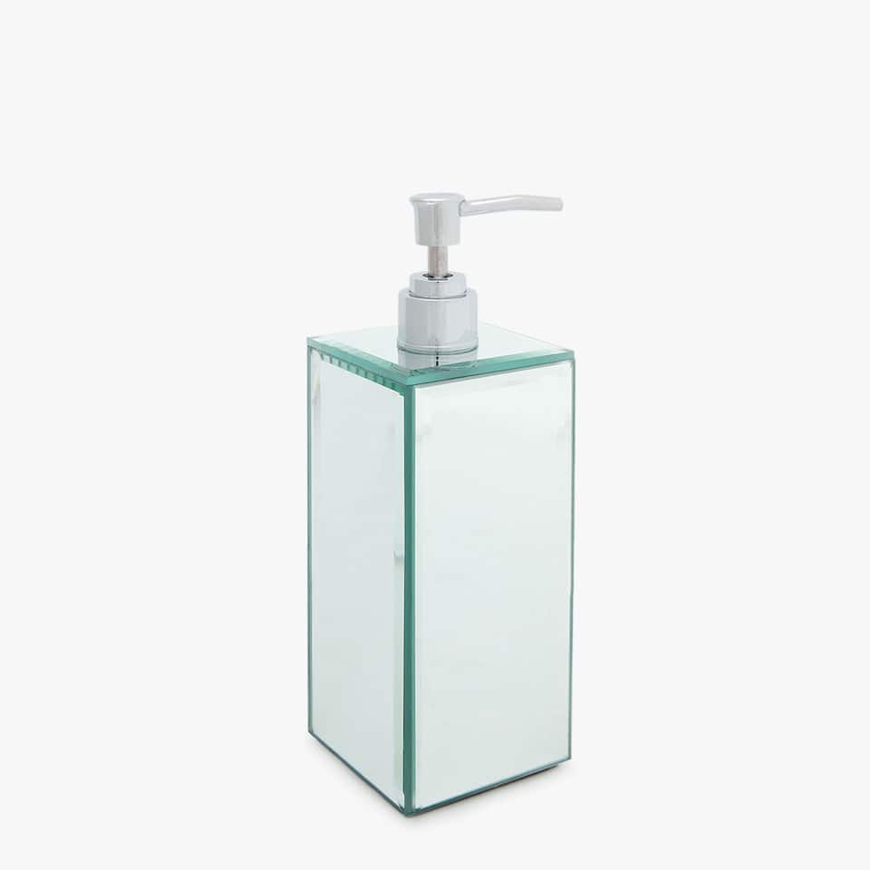 RECTANGULAR MIRRORED SOAP DISPENSER