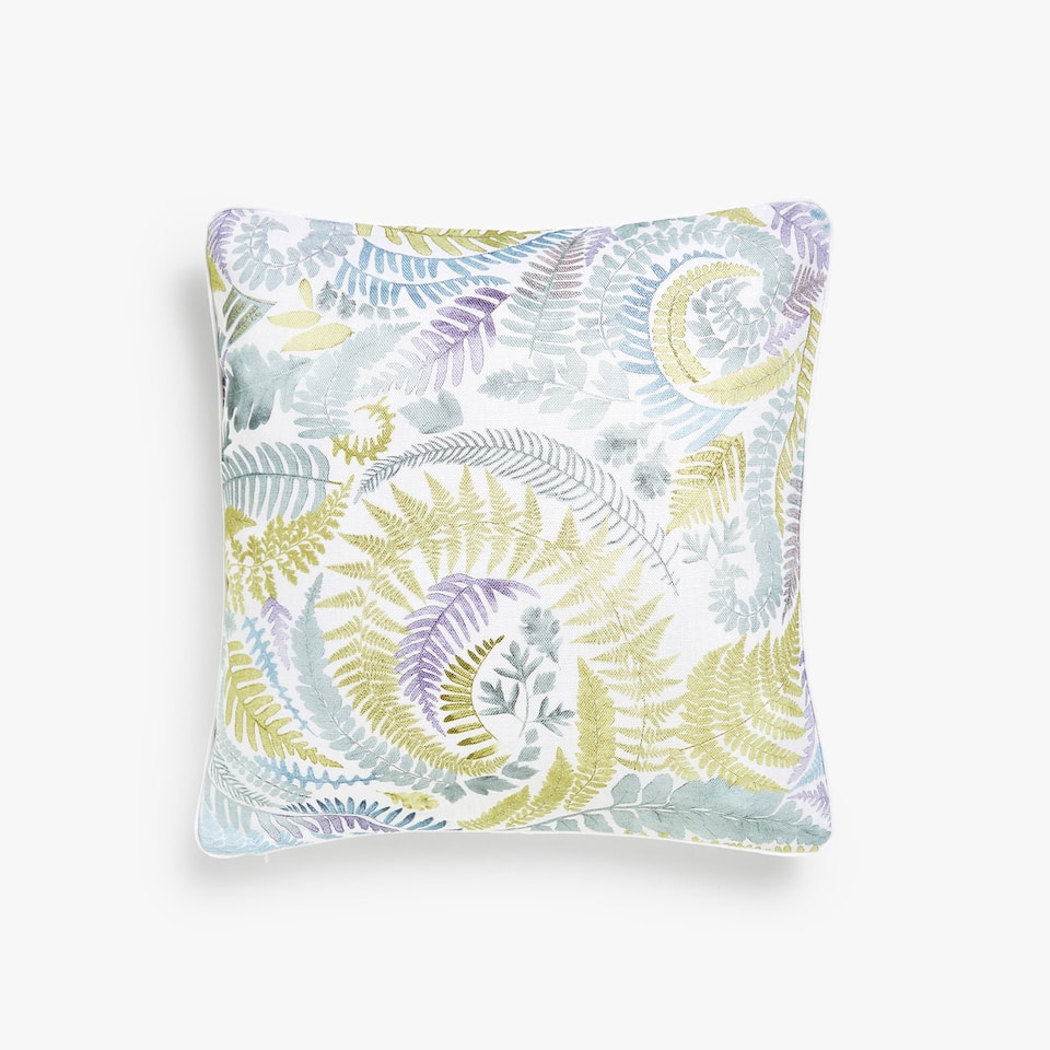 Paisley print linen cushion cover
