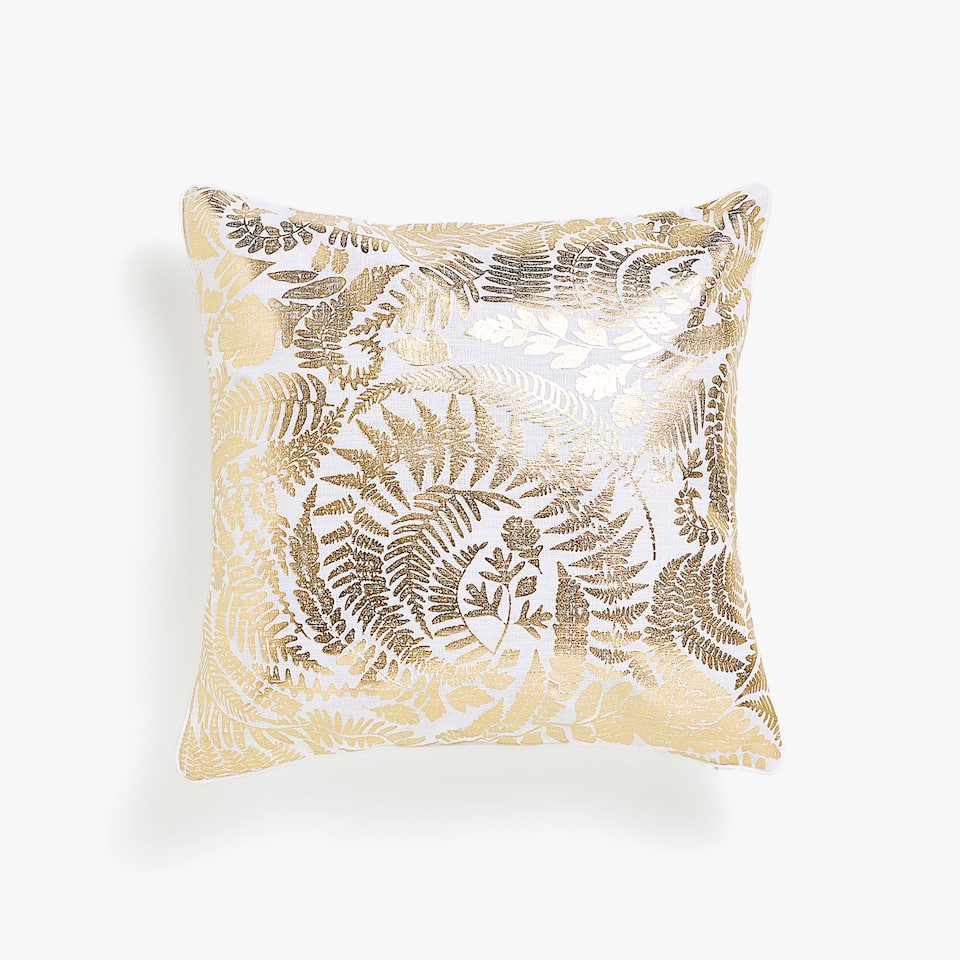 Fern print cushion cover