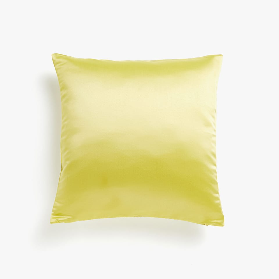 Reversible sateen cushion cover