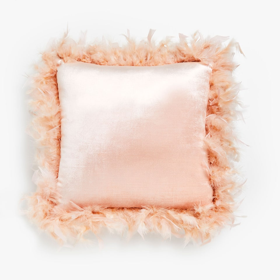 Feathers cushion