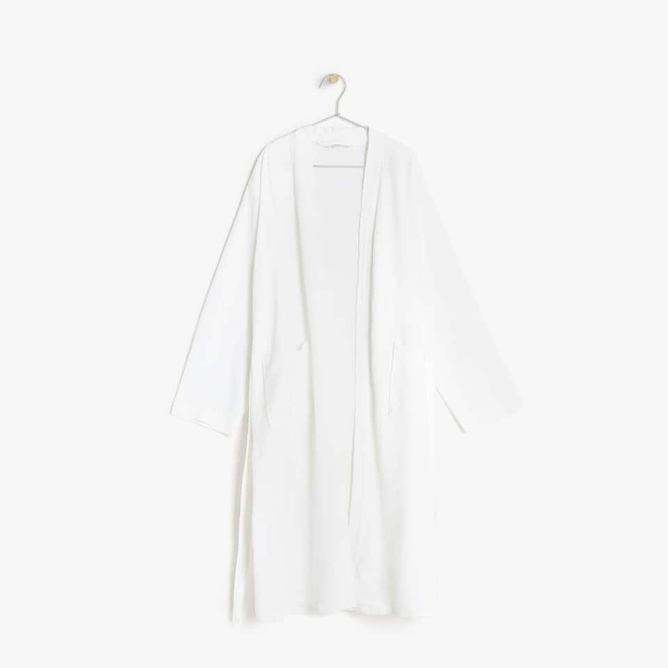 PIQUÉ COTTON BATHROBE
