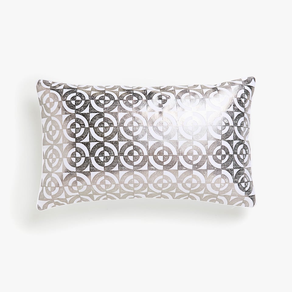 Printed sateen cushion cover