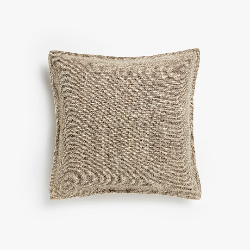 Jute throw pillow cover