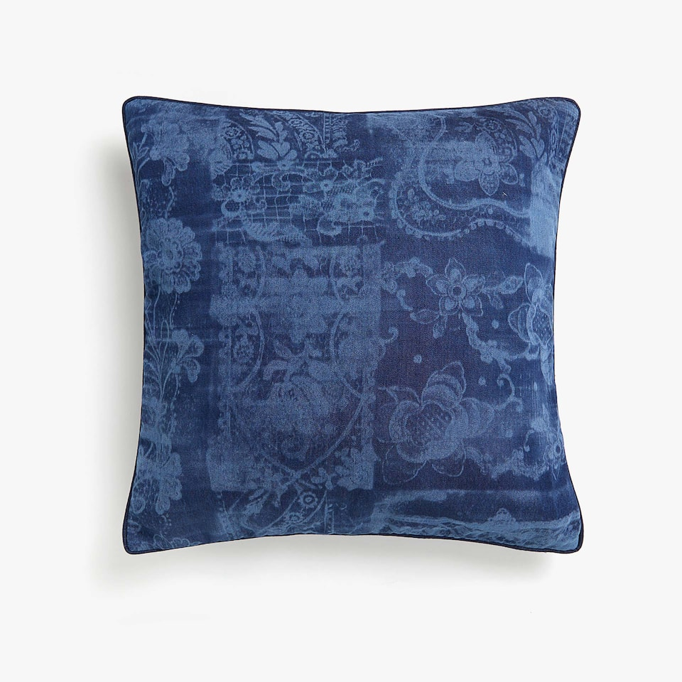 Decorative print cushion cover