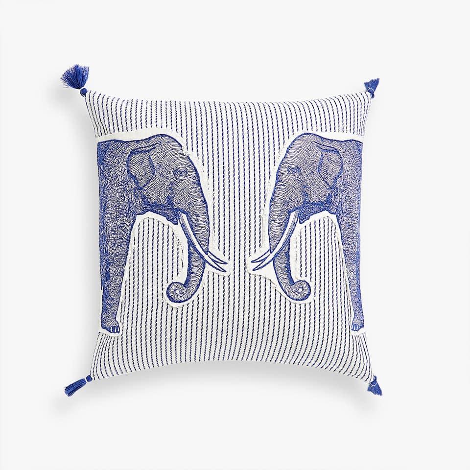 kissenbezug mit elefantenapplikation kissen schlafzimmer zara home deutschland. Black Bedroom Furniture Sets. Home Design Ideas