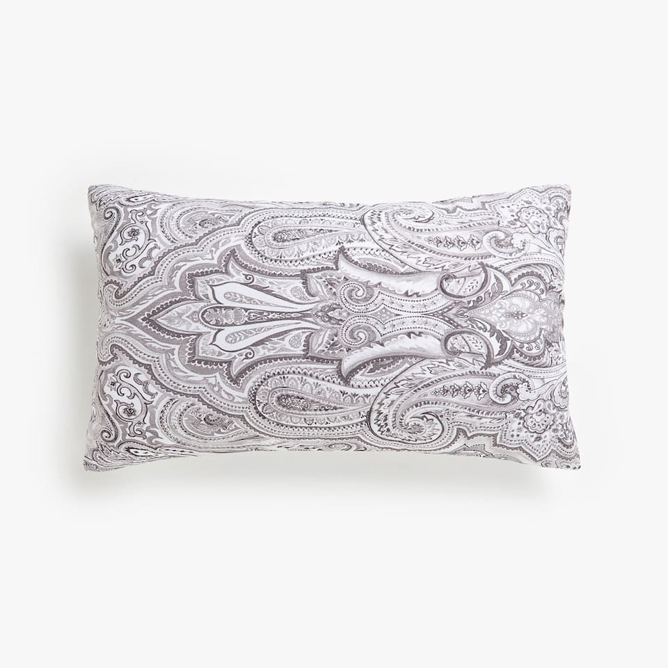 Paisley print cushion cover