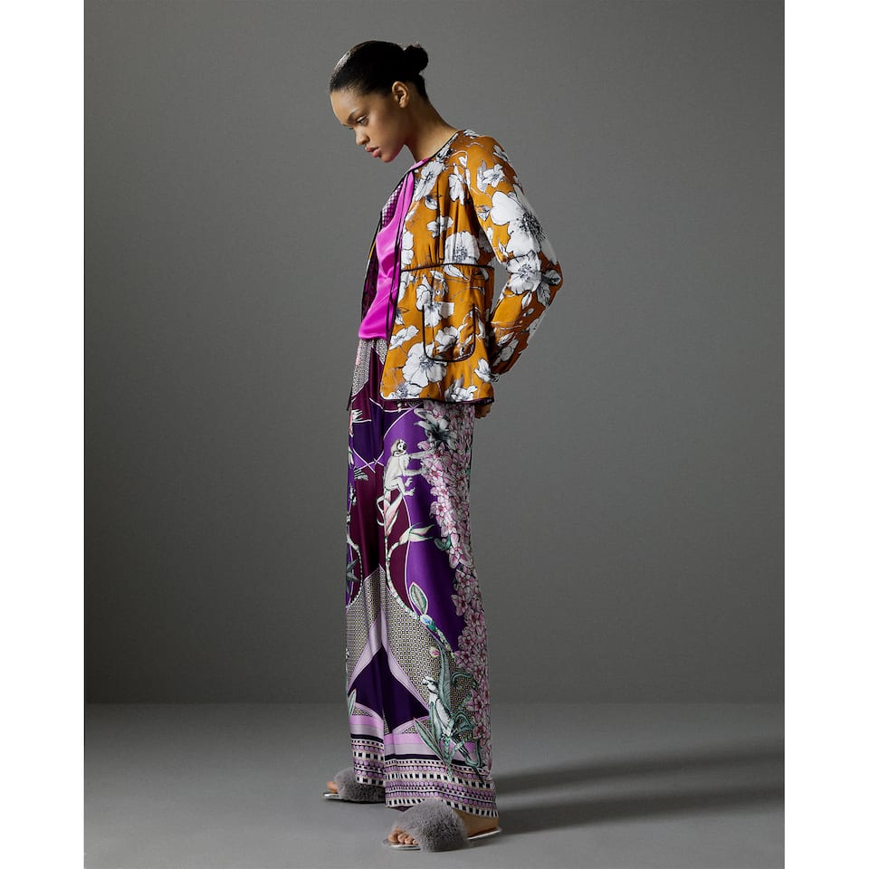 MIX PRINT TROUSERS
