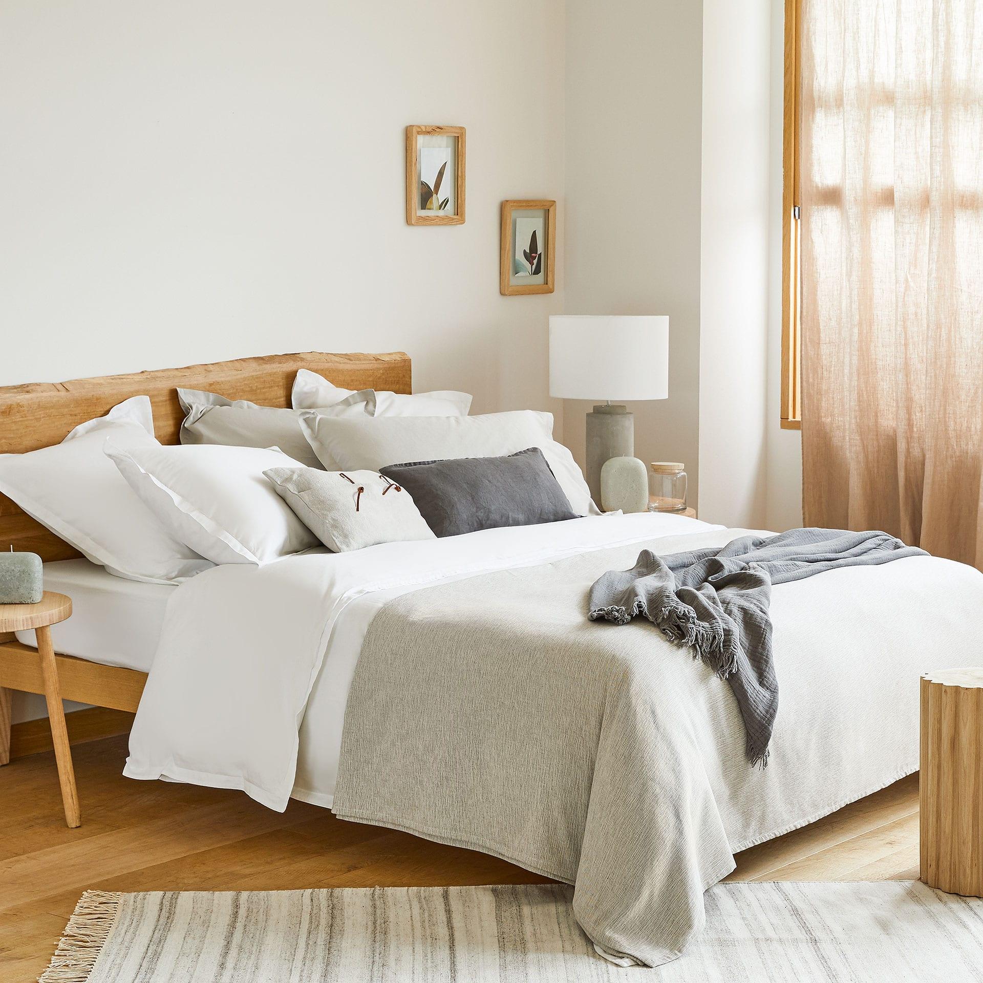 Bedwelming Taupe multi sprei met melange effect - SPREIEN - SLAAPKAMER | Zara &VY47