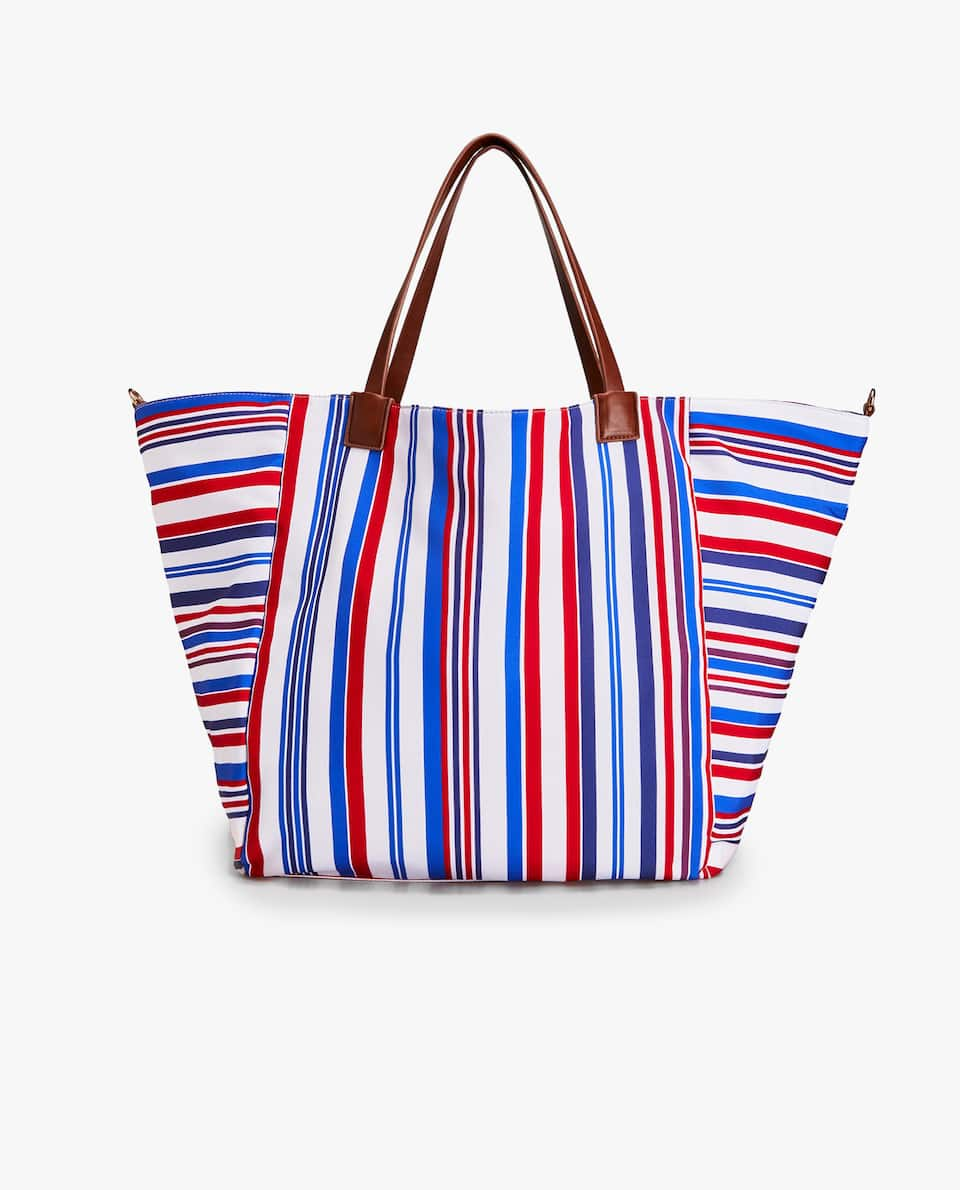 SAILOR STRIPE FABRIC TOTE BAG