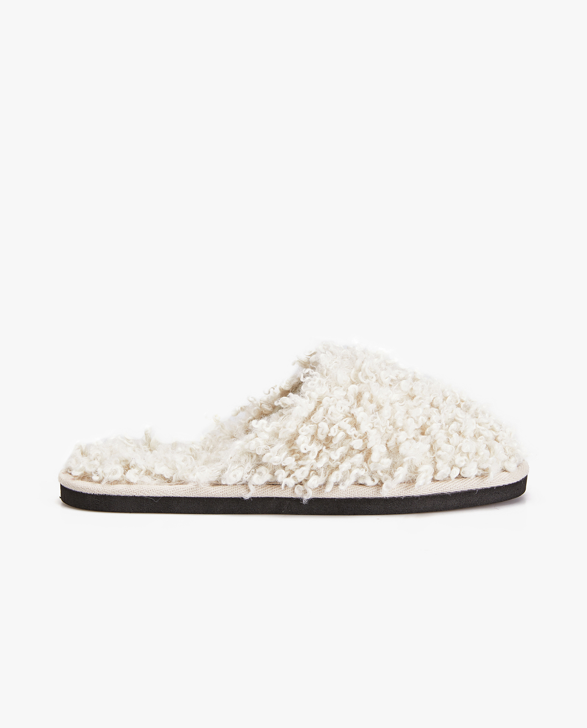FAUX SHEARLING SLIPPERS