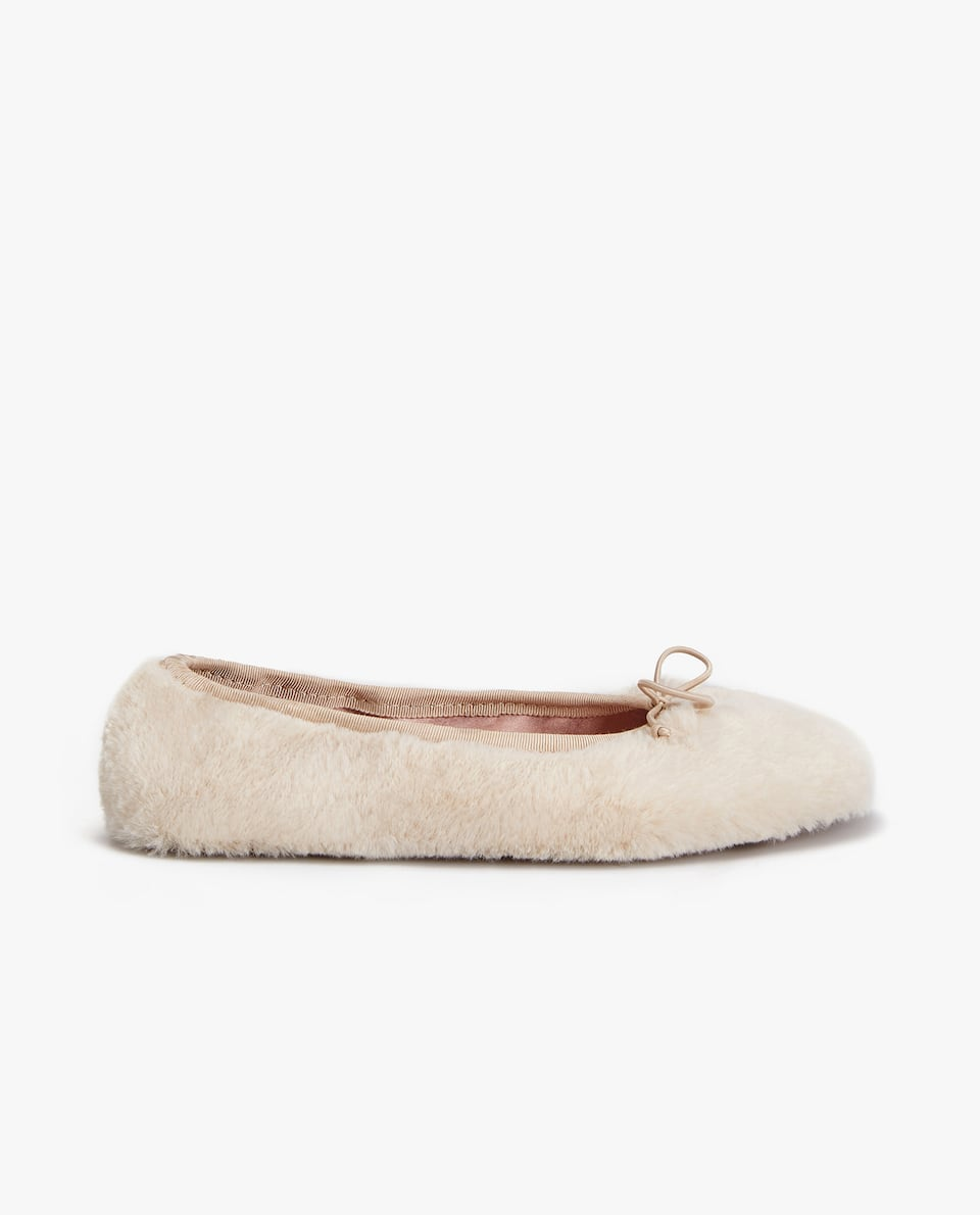FURRY BALLERINA SLIPPERS