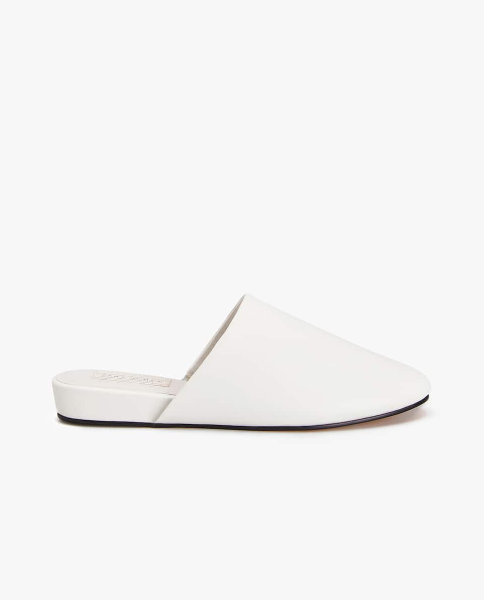 MONOCHROME WEDGE SLIPPERS