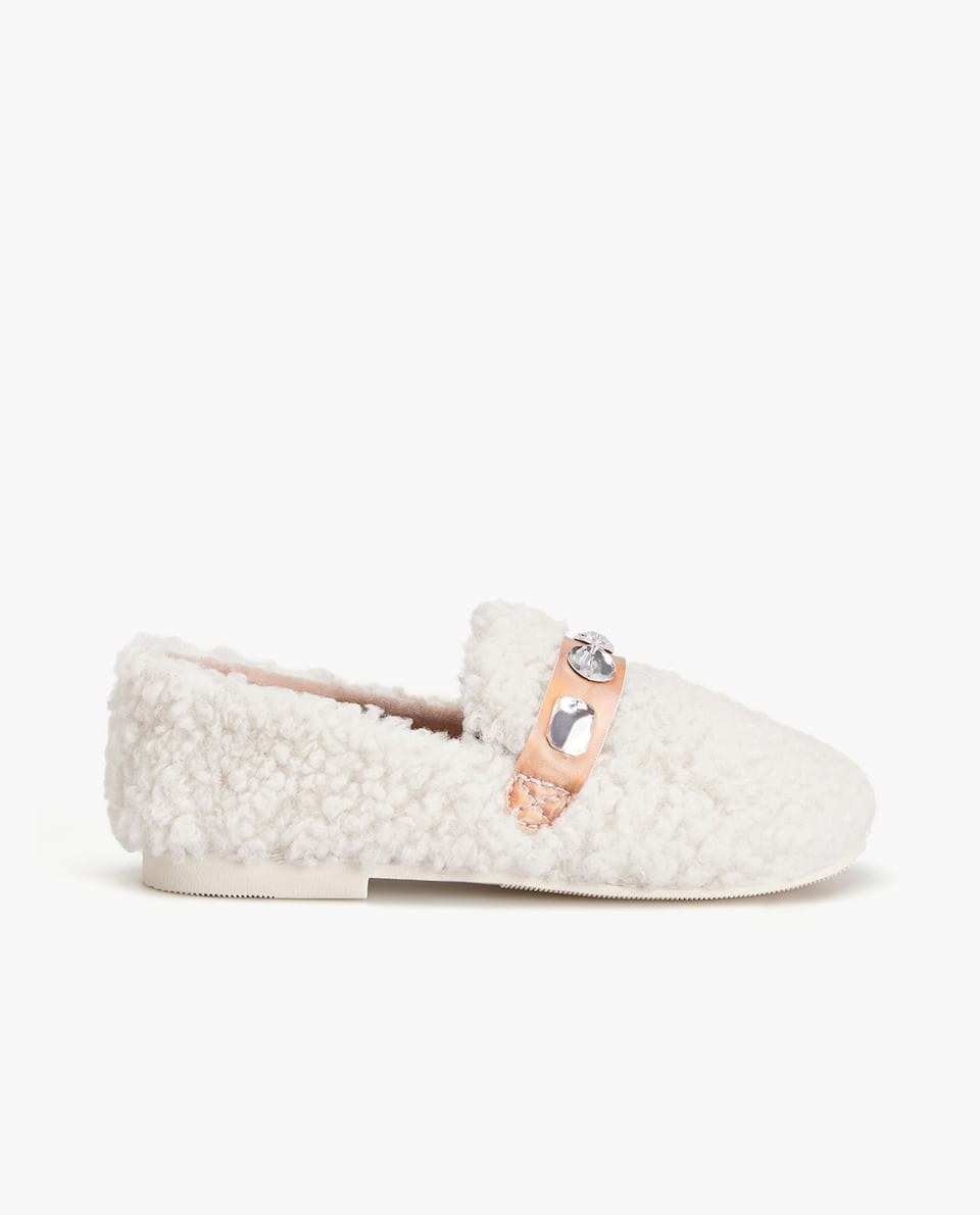 WARM RHINESTONE LOAFER SLIPPERS