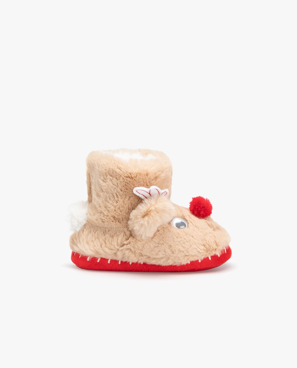 CHRISTMAS REINDEER SLIPPER BOOTS