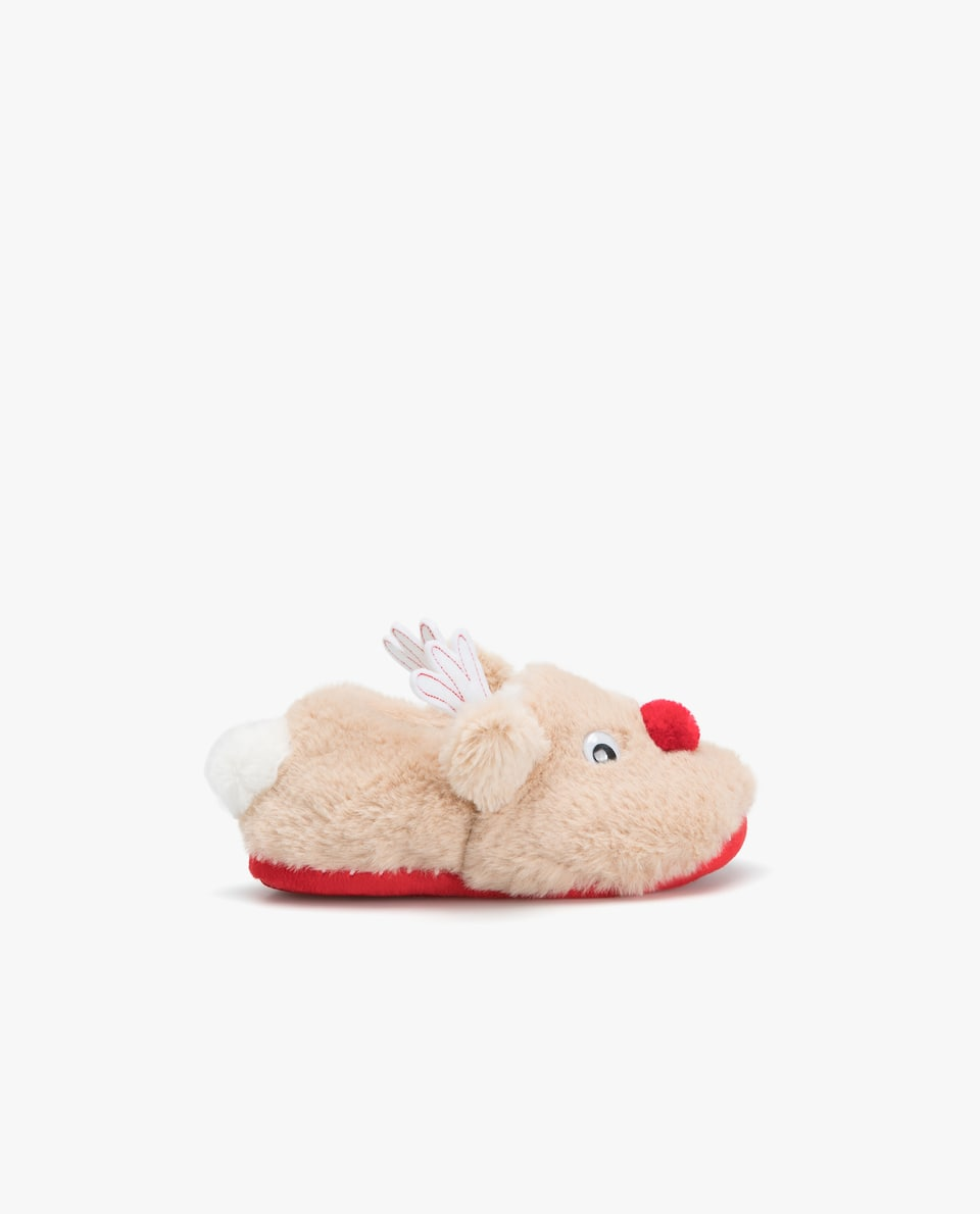 CHRISTMAS REINDEER SLIPPERS