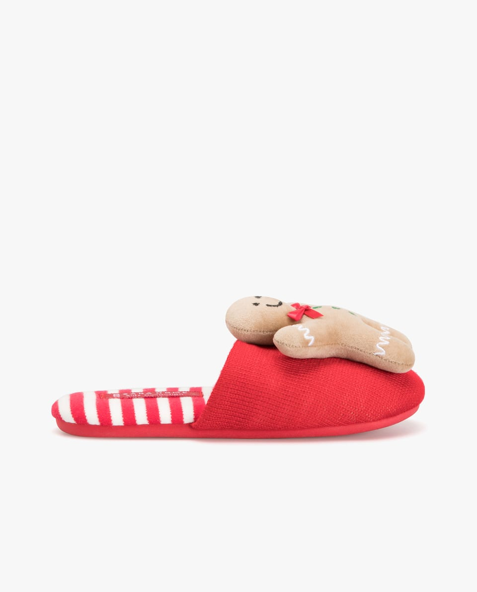 GINGERBREAD MAN MULE SLIPPERS